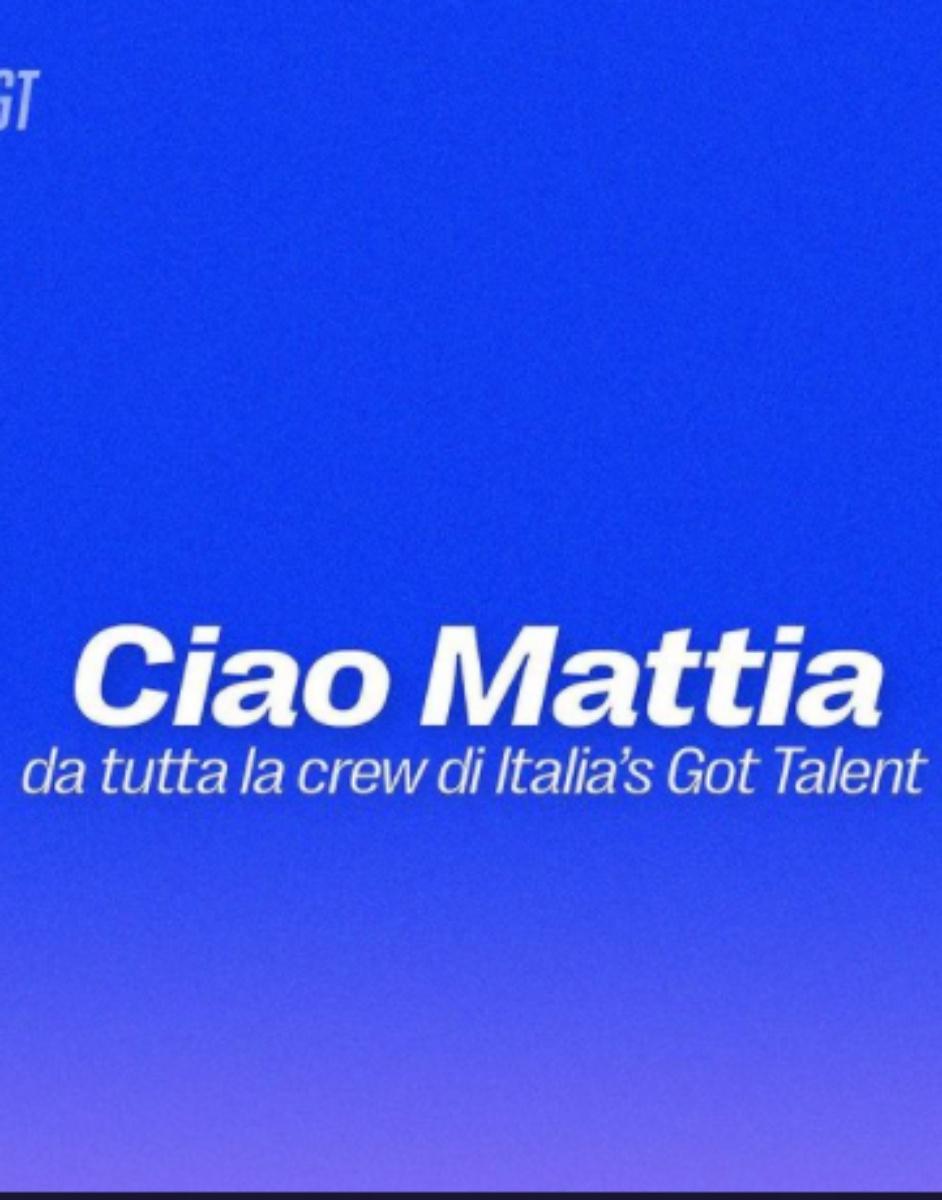 Italia's Got Talent è morto Mattia Montenesi