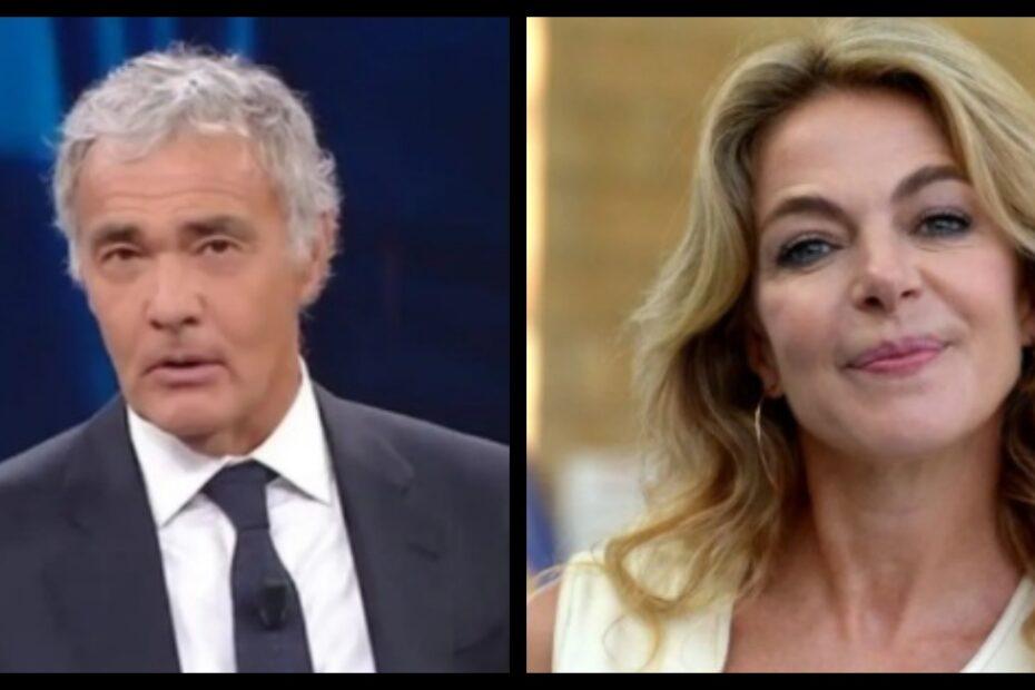 Massimo Giletti Claudia Gerini